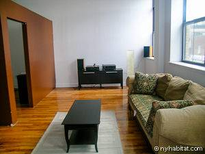 Picture of the living room in the 3-bedroom Harlem apartment