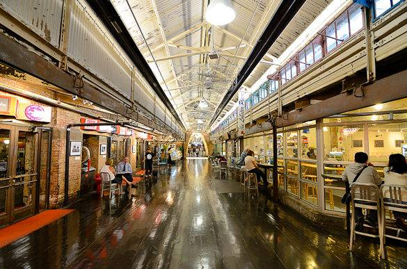A picture of the Chelsea Market in Manhattan