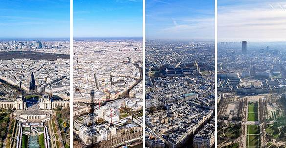 Pictures of the view from the Eiffel Tower in Paris