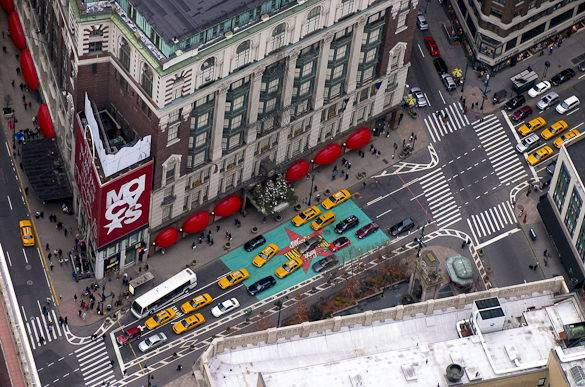 Image of Midtown Manhattan's Macy's and Herald Square seen from the Empire State Building