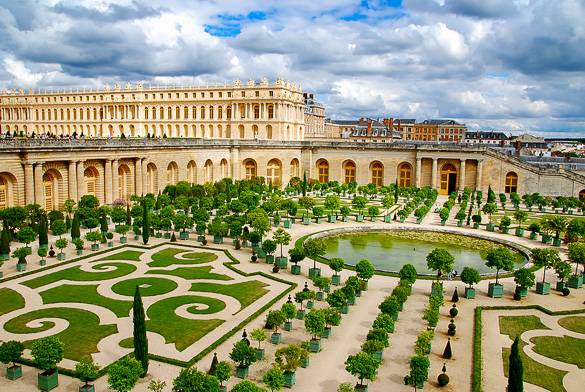 Picture of the Versailles gardens