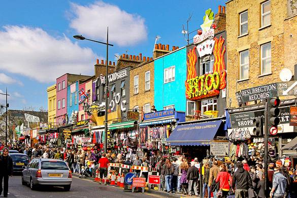A photo of Camden Market in Camden Town, London