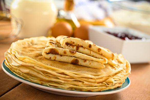 Image of a plate of homemade crepes
