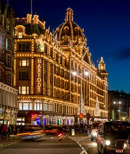 Image of the Harrods department store in London