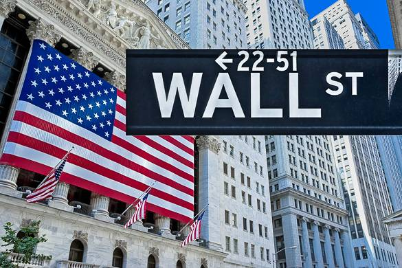 Picture of Wall Street in New York City