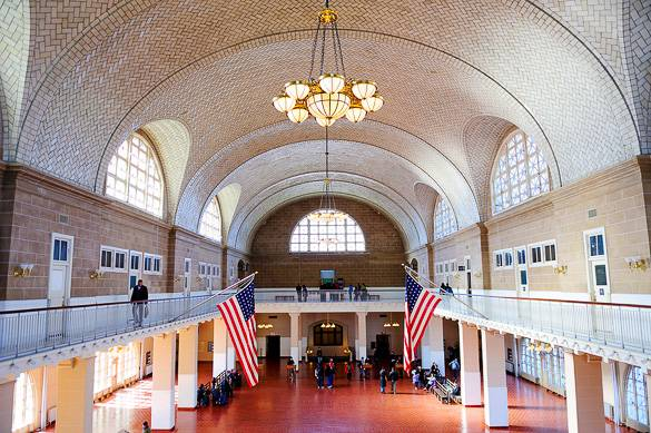Picture of the Ellis Island Immigration Museum's Great Hall