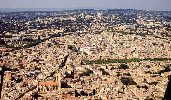 Aerial picture of Aix-en-Provence
