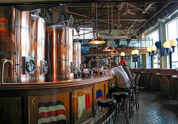 Picture of the interior of the Chelsea Brewing Company