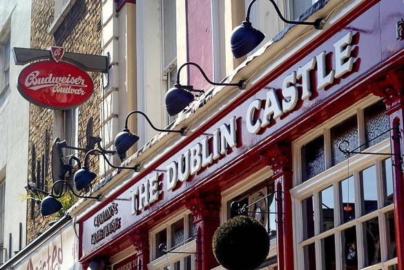 Image of Camden's The Dublin Castle, which often features live music