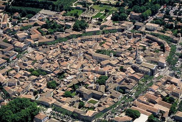 Panorama of Saint-Rémy-de-Provence in the South of France