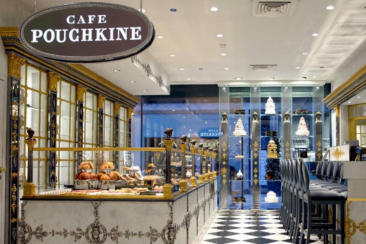 Picture of the Russian pastry shop Café Pouchkine, Paris