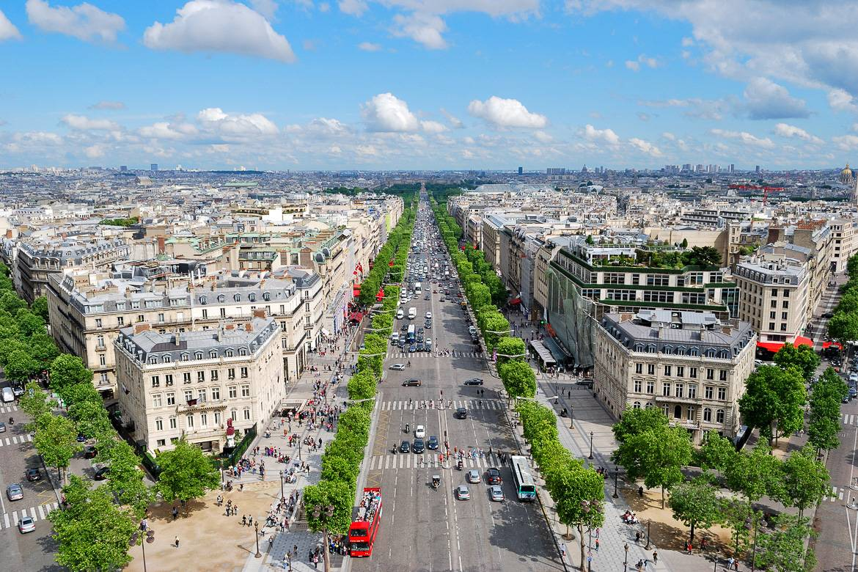 Image of the Champs Élysées Avenue