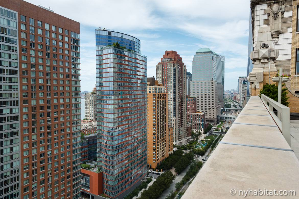 Image of the view from a furnished studio in Battery Park