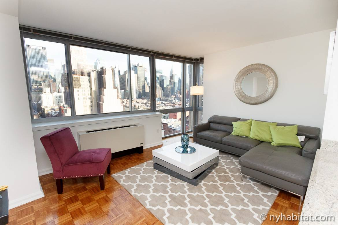 Furnished Two Bedroom Apartment In Midtown West Manhattan Photo Of A Home