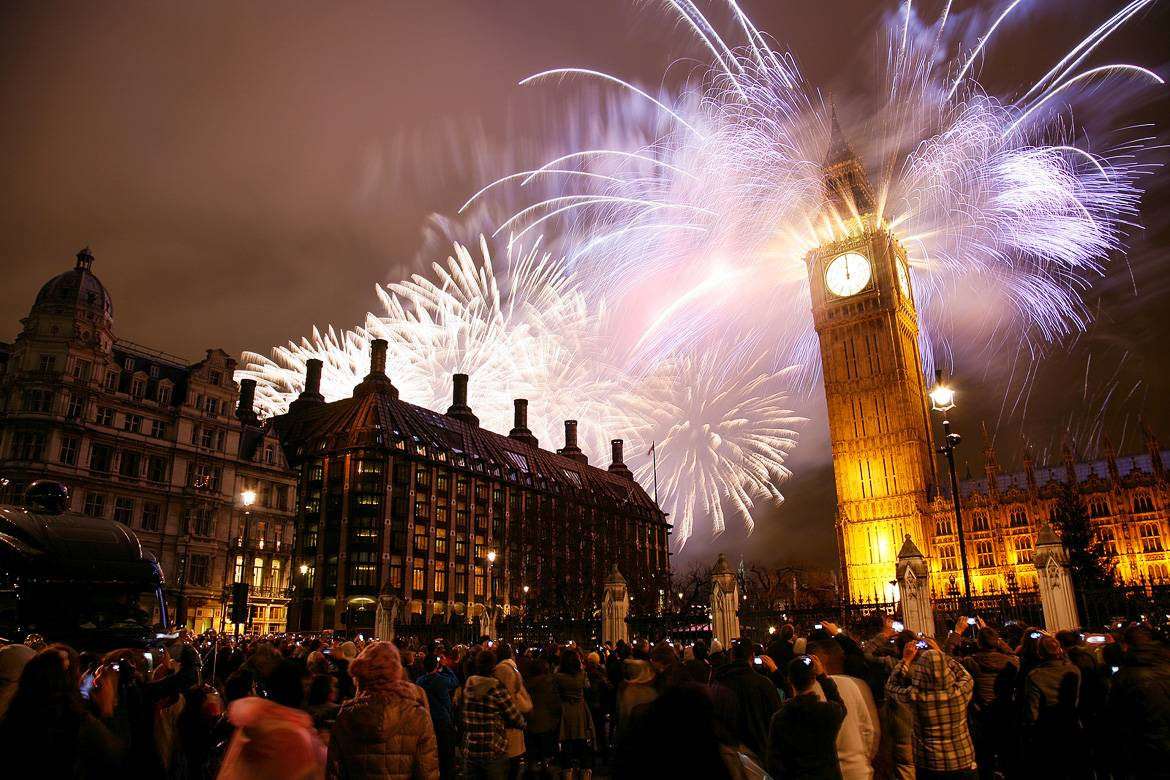 New Year's Eve outside the Big Ben