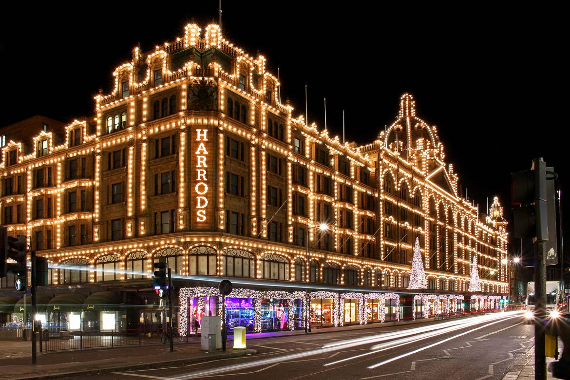 Image of Harrods at Christmastime
