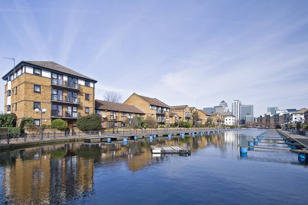 Waterfront apartments in Island Gardens