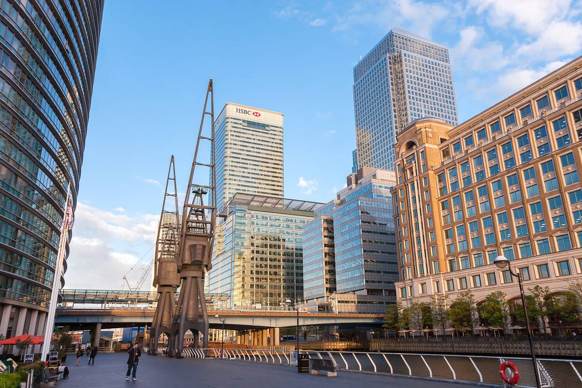 Glitzy new developments on the West India Quay