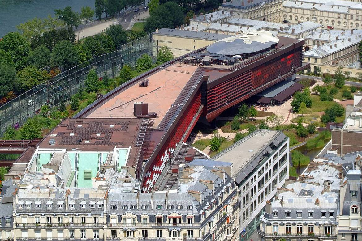 Image of the Musée du Quai Branly from above