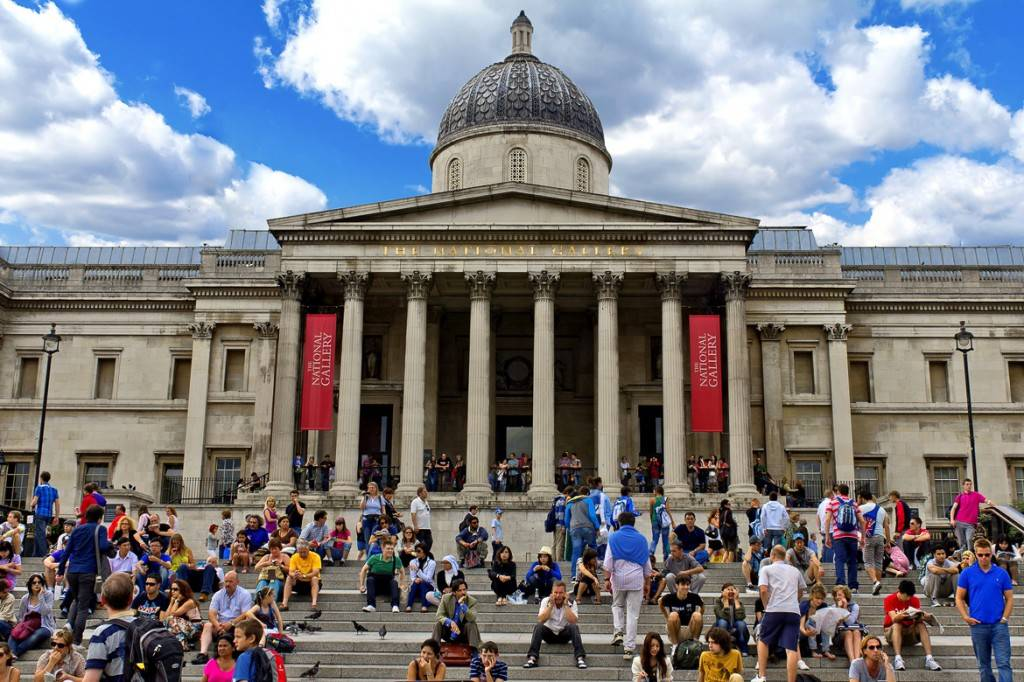 Image of the front of the British Museum