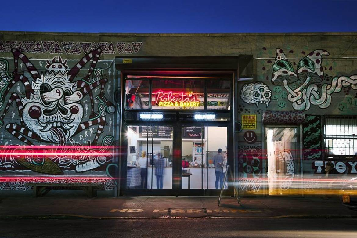 Image of Roberta's Pizza's take-out location in Bushwick, Brooklyn