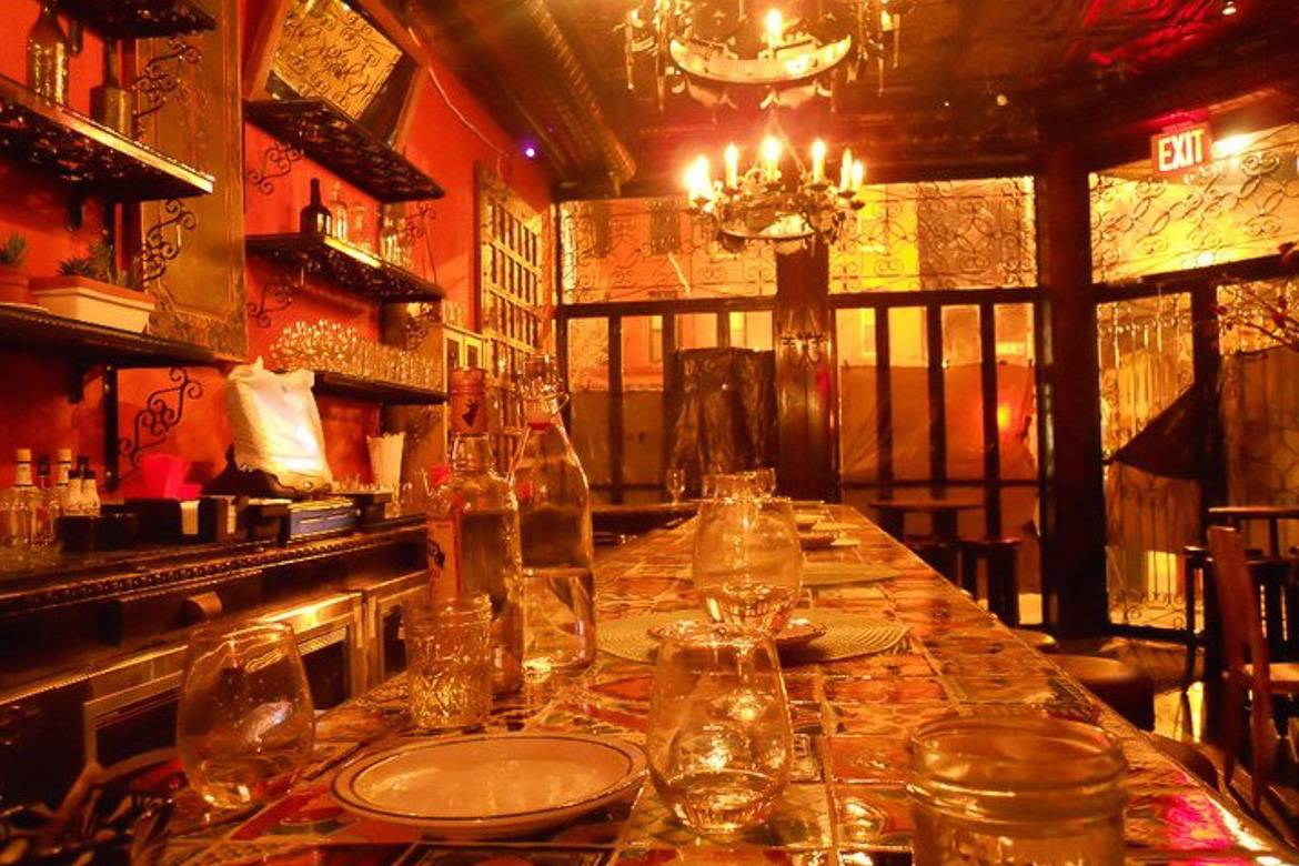 Image of set table at Chavela's