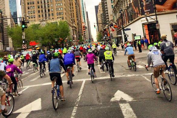 Image of the 5 Borough Bike Tour in Midtown Manhattan