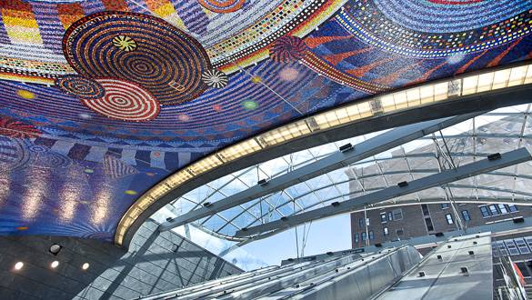 Image of the roof mosaic of the new 34th Street-Hudson Yards station