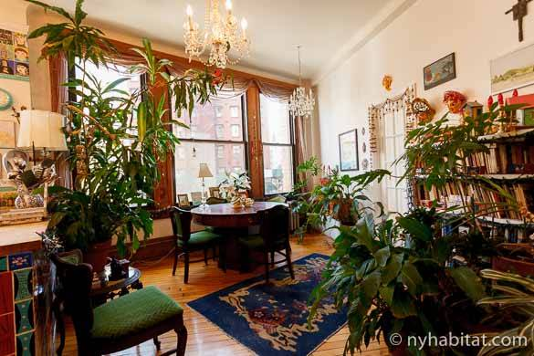 Image of the living room dining area of NY-3756