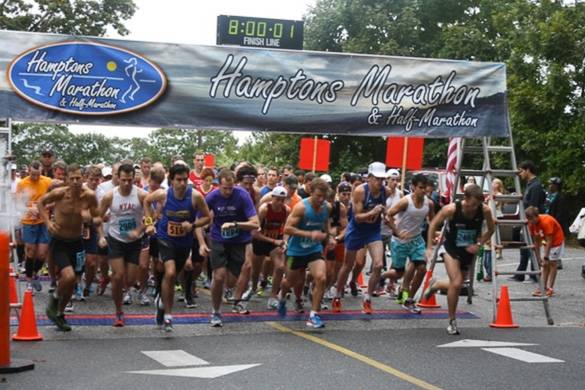 Go for a run and hit the beach at the Hamptons Marathon!