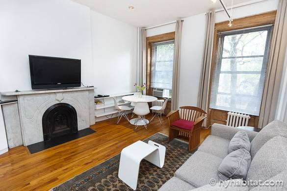 Image of living room of NY-14124 with fireplace in Chelsea