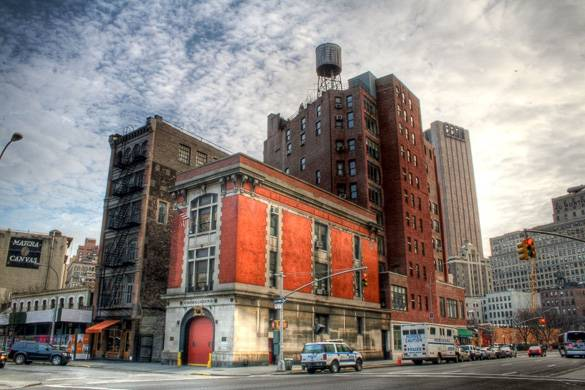Image of Tribeca firehouse where Ghostbusters was filmed