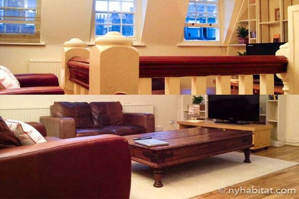 Image of sofas in the living room of LN-599 vacation rental in SoHo