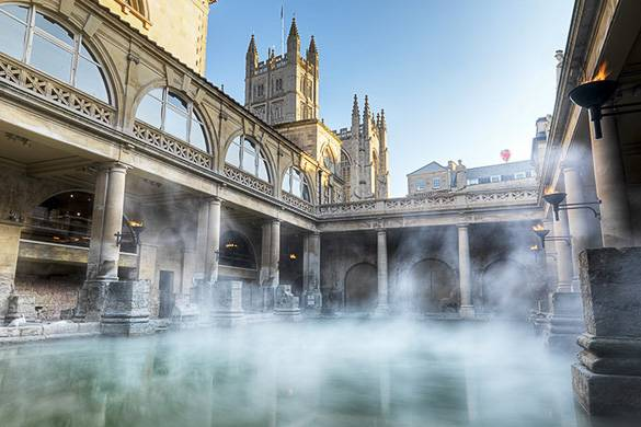 Image of the thermal spas at Bath