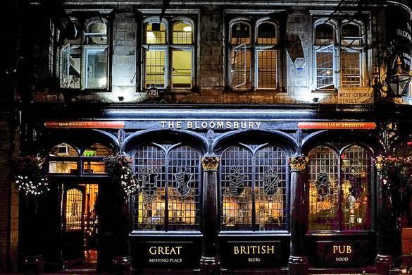 Image of facade of The Bloomsbury British pub