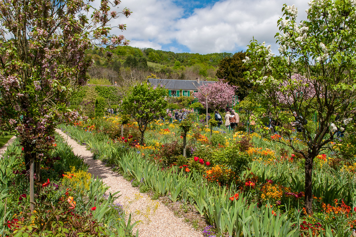 Image of gardens and footpaths at Claude Monet's Giverny home