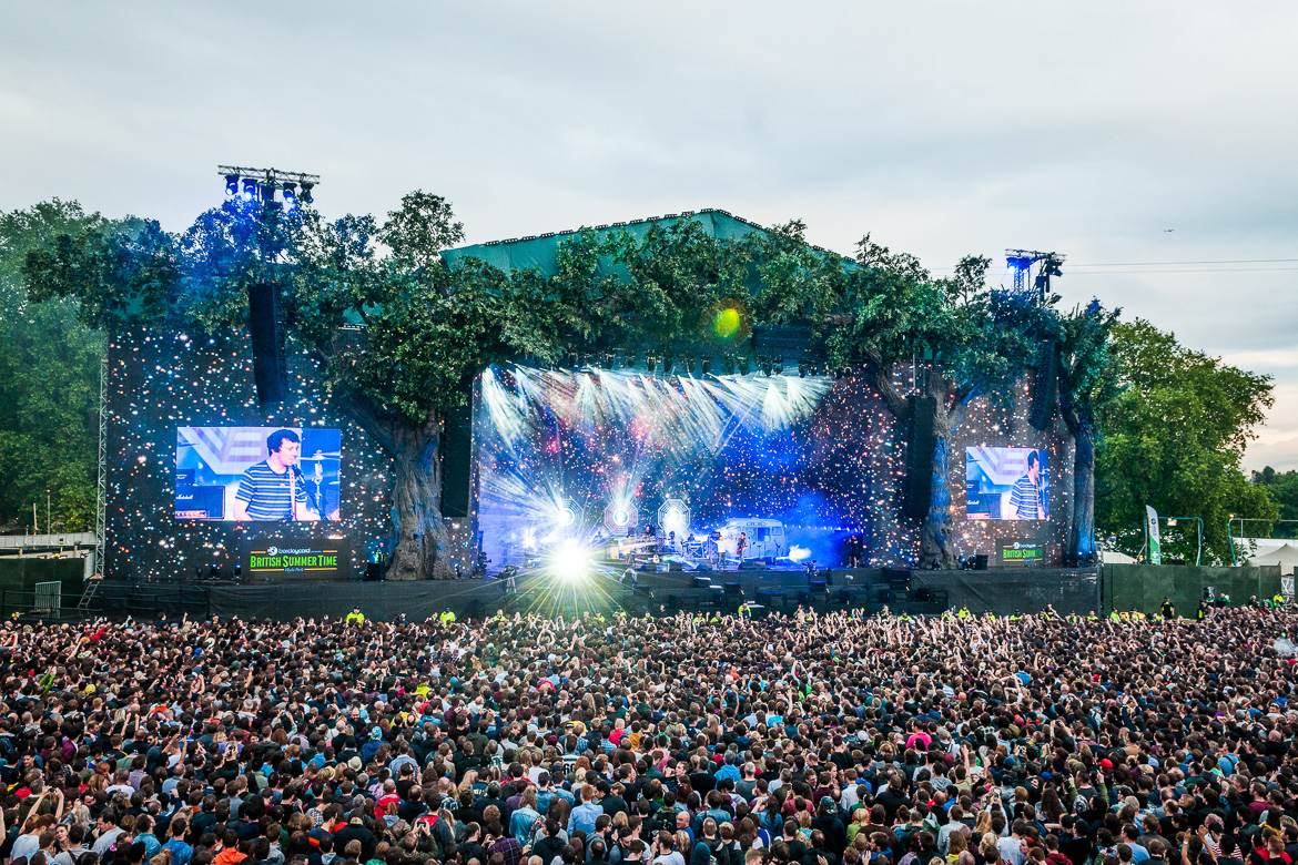 Image of outdoor British Summer Time concert in Hyde Park