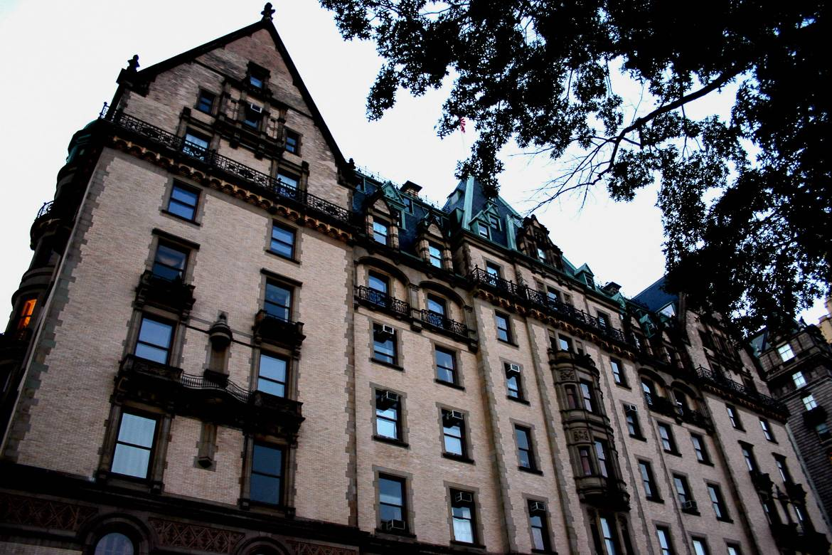 Image of The Dakota building in New York City.