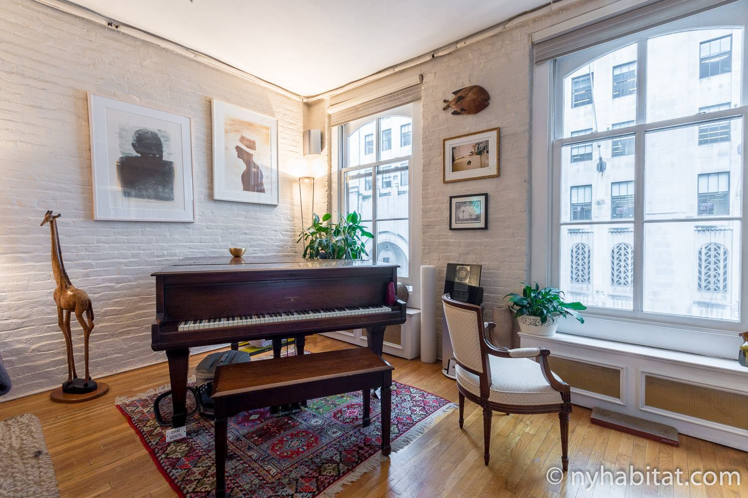 manhattan apartments rented for tourist experience best interior design nyc apartment Image of living area in NY-12330 with grand piano, windows and artwork.