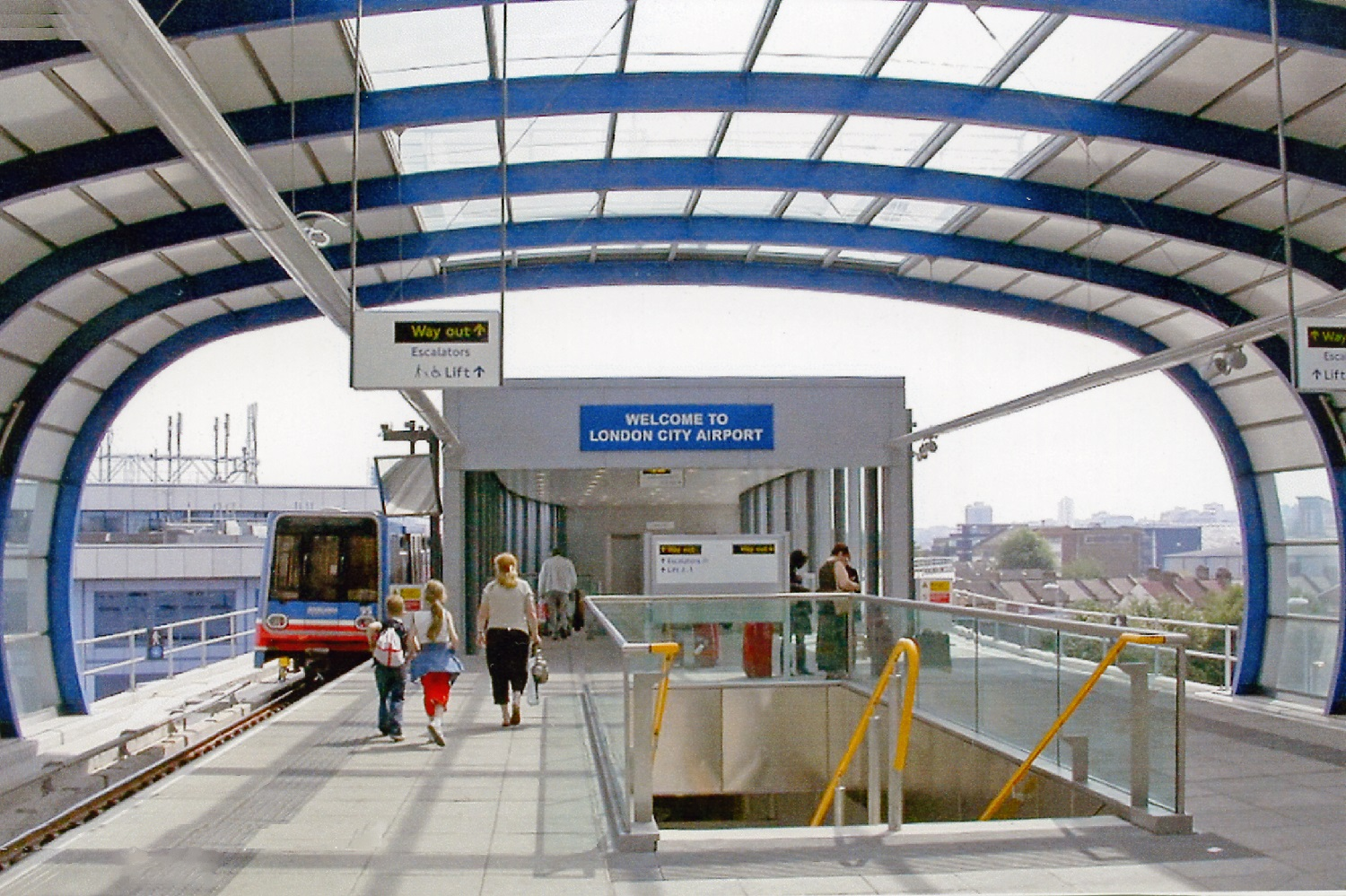 Image of City Airport DLR Station platform.