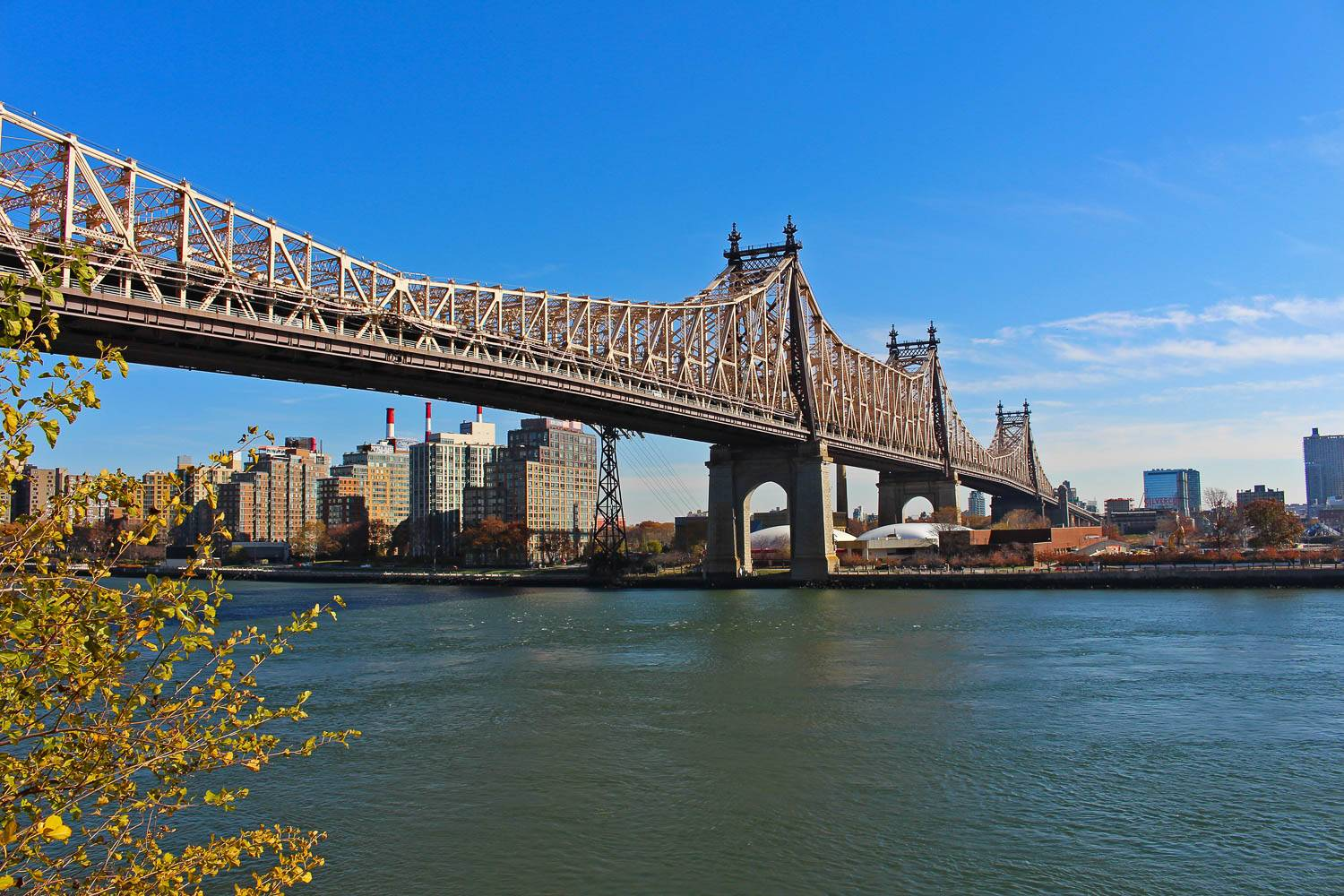 Image of the Queensboro Bridge as viewed from Manhattan.