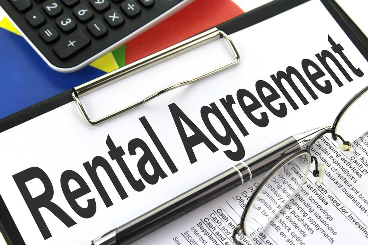 """Image of a document labeled """"Rental Agreement"""""""