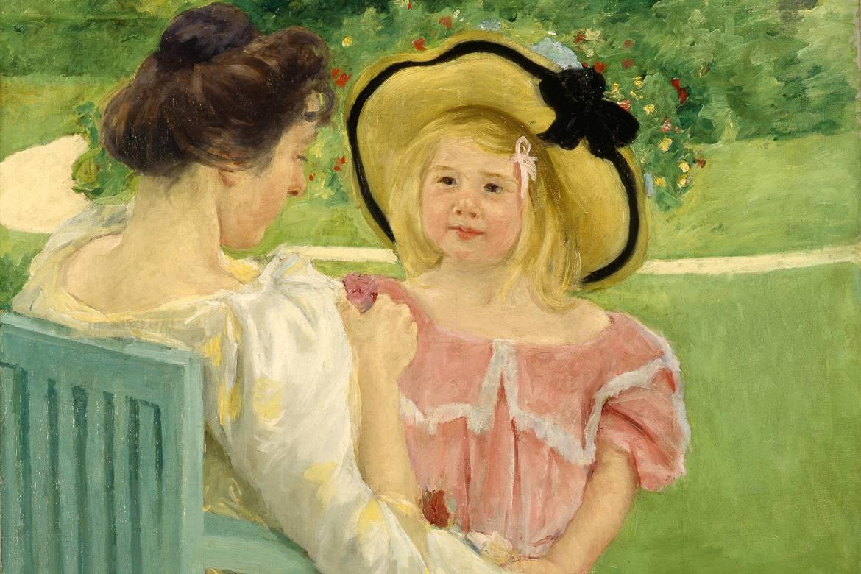 Bild von einem impressionistischen Bild von Mary Cassatt