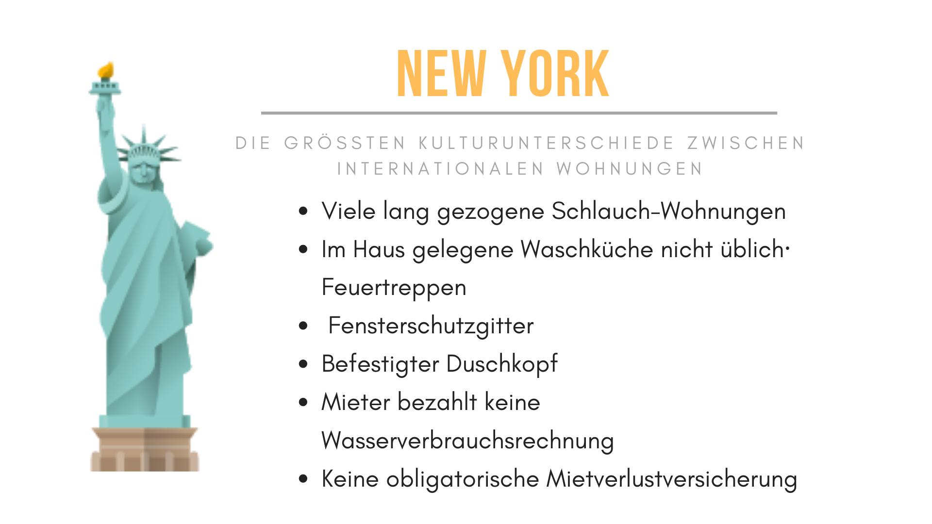 New York Habitat Infografik, die die einzigartigen Merkmale der Mietwohnungen in New York beschreibt.