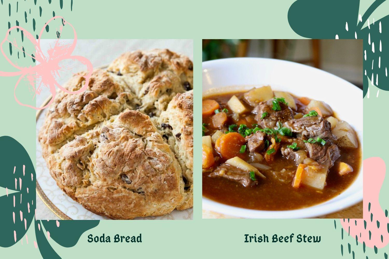 Bild von irischem Brot und Rinderragout