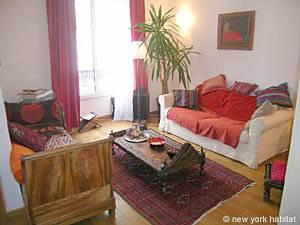 Eine Unterkunft in Paris Eine Wohnung mit einem Schlafzimmer in Montparnasse Porte de Versaille (PA-3581)