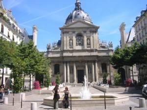 Ein Spaziergang an der Sorbonne, im Quartier Latin in Paris