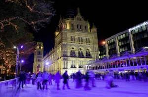 Winterwunder in London: Eisbahn am Natural History Museum, Kensington-Chelsea
