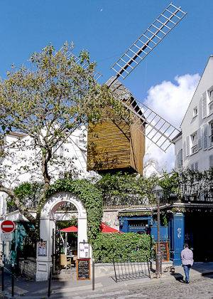 Bild der Moulin de la Galette in Montmartre