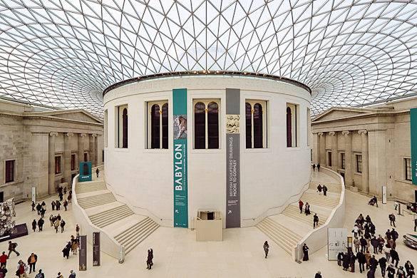 Foto des British Museums im Londoner Stadtteil Bloomsbury